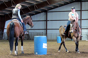 A perfect circle is critical to barrel racing success!