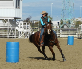 Is your horse balanced in four wheel drive or leaning to the inside?