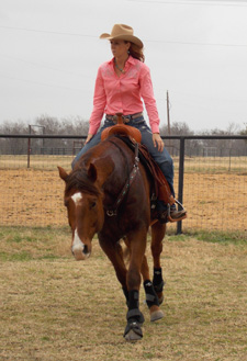Bridleless barrel racing.