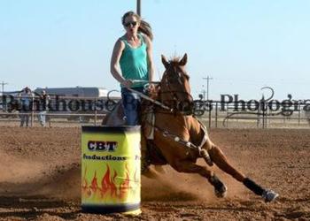 Barrel horses beating the odds.