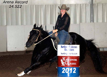 Barrel horses beating the odds.