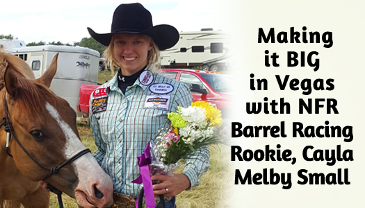 2016 NFR Barrel Racer Cayla Melby Small