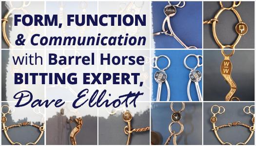 Form, Function & Communication with Barrel Horse Bitting Expert, Dave Elliott