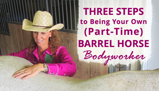 Three Steps to Being Your Own (Part-time) Barrel Horse Bodyworker