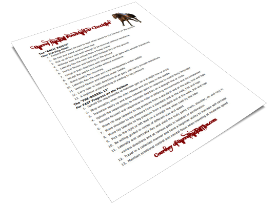 The Barrel Racing Tips Foundation Checklist PDF